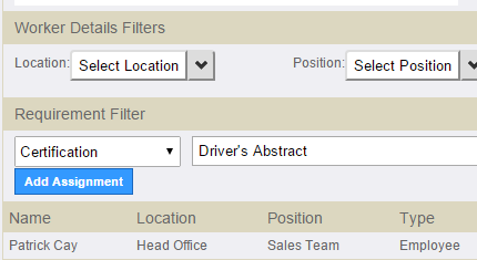 Credential Filters example