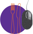 Picture of mouse and cutlery